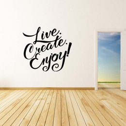 For Live Create Enjoy Wall Motivational Quote Removable Sticker Decor Vinyl Decal Mural Art Bedroom Sitting Room Diy