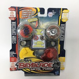 Wholesale HASBRO Beyblade METAL FUSION STORM CAPRICORN ATTACH M145Q BB50A VS ROCK GASHER DEFENCE DF145WB B107 LIGHTNING SCREWDRIVER PACK DUO DUO