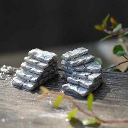 Resin Decor Stone Steps Road Order Small Stairs Moss Terrarium Green Plant Gift Micro Landscape Accessories Fairy Garden DIY Zakka