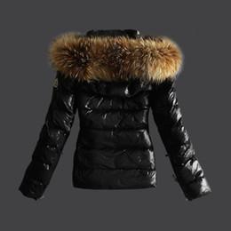Wholesale Luxury Brand Mon ler Women Jacket Winter Coat Thickening Female Clothes Real Raccoon Fur Collar Hood Down Jacket20104