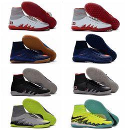 Wholesale HypervenomX Proximo IC TF Astro Turf Football Boots Mens Soccer Boots Junior Hypervenom Phantom JR Indoor Soccer Shoes Neymar Soccer Cleats