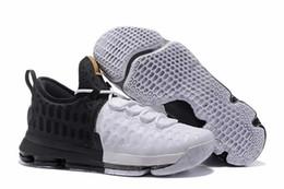 2017 kds blanc KD9 BHM Blanc / Noir / Or Sneakers 2017 KDs KD KD 9 IX Noir Mois d'histoire Hommes Kevin Durant Basketball Chaussures Homme À Vendre peu coûteux kds blanc