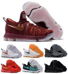 Wholesale Sale Basketball Shoes Sneakers Kd Runing Kevins Kds VIIII Lowe Elites Black Durant Men Original Kd9 Basket Femme Sport Shoes
