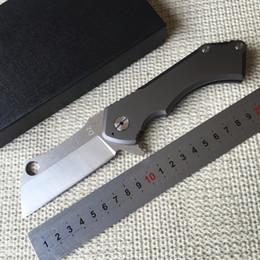 Descuento bolas de rodamiento Dos hileras de cerámica rodamiento plegable cuchillo D2 cuchilla de titanio de procesamiento de acampada al aire libre cuchillo de rodamiento de co