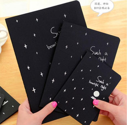 Wholesale New Sketchbook Diary for Drawing Painting Graffiti Soft Cover Black Paper Sketch Book Notebook Office School Supplies Gift s