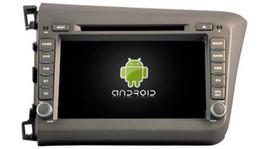 2017 tuner audio vidéo 4G lite 2GB RAM Android 6.0 quad-core voiture lecteur dvd gps multimédia audio audio sans fil pour Honda Civic LHD 2012 enregistreur magnétoscope tuner audio vidéo ventes