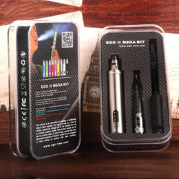 2017 start kit ego Vente en gros - 100% Original GS EGO-II Mega Kit kits de démarrage H2s atomiseur et cig stylo GS Atomizer Tank E Cig Kits start kit ego à vendre