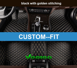 Veeleo+ Custom Fit -6 Colors Leather Car Foot Floor Mats for BMW2 3 4 5 6 7 Series Waterproof Anti-slip 3D Full Set Car Mats Carpets Liner