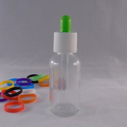 30ml clear glass dropper bottle with childproof cap empty liquid bottle for essential oil skin care