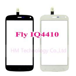 Promotion quad lcd Grossiste - Noir / Blanc Digitizer écran tactile pour Fly IQ4410 4410 Quad Phoenix / 4,7 Capteur en verre (NO LCD)