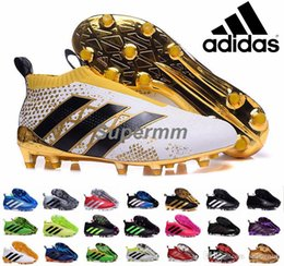 Wholesale Adidas Ace Purecontrol Primeknit Soccer Cleats Firm Ground Cleats Trainers NSG FG CG ACE Mens Football Boots Soccer Shoes With Box