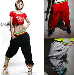 Wholesale 2017 Womens and Mens Unsex Casual Harem Jogging Pants Hip Hop Dance Sports Trousers Baggy Girls Ladies SweatPants Jogger Boys Slacks