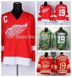 2016 New, 2014 Detroit Red Wings Ice Hockey Jerseys 19 Steve Yzerman Jersey Winter Classic Red Cheap Steve Yzerman Stitched Jersey C P