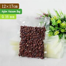 100 PCS 12x17cm 0.16mm PA + PE Clear Vacuum Seal Food Bags   Vacuum Sealer Bags For Food   Vacuum Sealing Bags