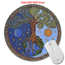 DIY Wholesale Custom Designed Rubber Soft Mouse Pad With Mandala Fashion Design Circular Mousepad With Rubber 20cm by Mouse Pads