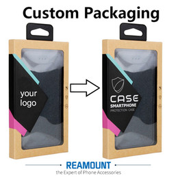 New Style Kraft Paper Box Custom Company Name Packaging Box with Colorful Sticker & Hanger for iphone 7 7plus Case