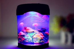 Wholesale Electronic Jellyfish Aquarium Simulation Jellyfish Night Light Nightlight MLLW_002