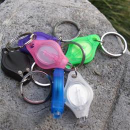 500 PCS Lot Multi colored LED Keychain Flashlights led light key ring mini led keychain light O129