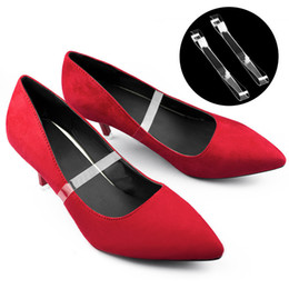 10 pairs Invisible Shoelaces High Heels Loose Shoe Straps Platform Wedge Pumps Insole for Dancing Holding Loose Shoes