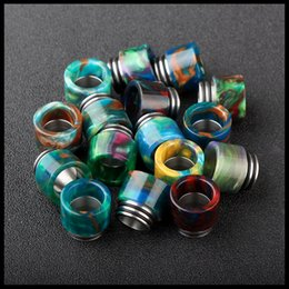 Wholesale Latest Epoxy Resin Drip Tips For Smok TFV8 Cloud Beast Big Baby Tank Atomizer Kit Wide Bore Drip Tips Mouthpiece Colorful