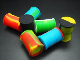 drum shape quality Silicone Jars Silicone Wax container and Oil Container