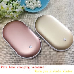 Wholesale Lucky hand warmer USB portable rechargeable Mini Hand Warmer heating warm mobile phone mobile power toy Beautiful Bag pendant