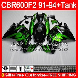gloss black 8 Gifts 23 Colors For HONDA CBR600F2 91 92 93 94 CBR600RR FS 1HM28 CBR 600F2 600 F2 CBR600 F2 1991 1992 1993 1994 green Fairing