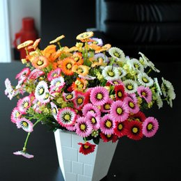 Artificial flowers silk 7 fork flowers 28 flower chrysanthemum Daisy lilac bedroom ornaments simulation money