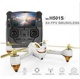 Promotion gps quadcopter fpv Hubsan H501S originale X4 Pro 5.8G FPV Brushless avec 1080P caméra HD GPS RC Quadcopter RTF Commutateur de mode avec télécommande