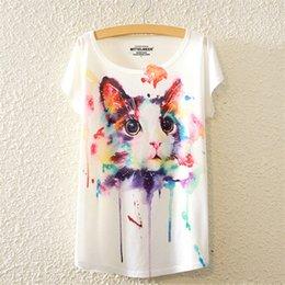 Shirt de douille d'impression des animaux gros à vendre-T-shirt femmes 2016 style Harajuku T-shirt femmes T-shirt imprimé T-shirts imprimés