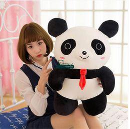 Promotion oreillers panda en peluche Dorimytrader 55cm Funny Pop Cartoon Panda Peluche en peluche Big Peluches en peluche Pandas Pillow Toy Baby Present 22 '' DY60220