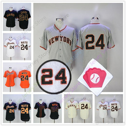 Willie Mays Jersey Cooperstown Cool Base Flexbase Vintage Men Women San Francisco SF Giants Baseball Jerseys Grey Orange Cream Black