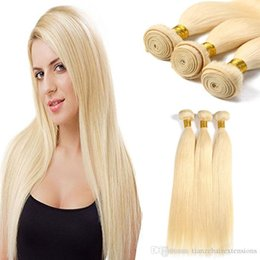 #613 Bleach Blonde Brazilian Straight Hair Weft High Quality 100% Unprocessed Hair Blonde Hair Extensions for Party Free Shipping