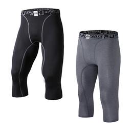Capas base en venta-UE Pantalones Capri de compresión de Capri para hombres