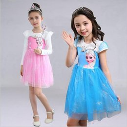 Canada Frozen Princess Dress Anna Elsa Robe Robes Bébé Jeans Princesse à la Mère Princesse Robe de Soirée Casual avec Cape Kid223 frozen anna cloak for sale Offre