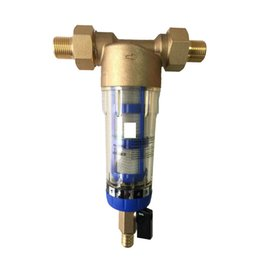Wholesale PHEPUS High quality house use backwash sediment stainless steel mesh brass pre water filter with piezometer