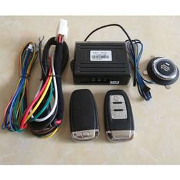 Compra Online Sistema de alarma a distancia un coche-PKE Sistema de alarma de coche Sistema de botón sin llave de entrada Sistema Smart Auto Sistema remoto Motor Start Stop 2 Controladores remotos