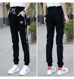 The spring and autumn period and the sweatpants female trousers foot loose big yards haroun pants show thin leisure girl who pants high scho