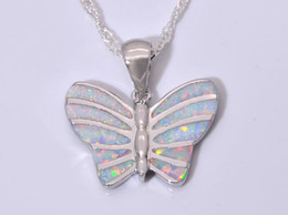Wholesale & Retail Fashion Jewelry Fine White Fire Opal Stone Silver Plated Pendants For Women PJ16011007