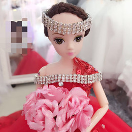 55cm White Lace Wedding dolls Fashion doll ornaments with Wedding dress Valentine's Day doll for girl friend