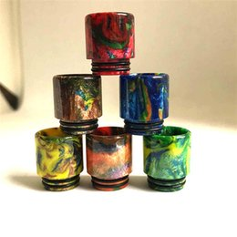 Wholesale TFV12 Epoxy Resin Drip Tips For Smok TFV8 TFV12 Cloud Beast Big Baby Tank Atomizer Kit Wide Bore Drip Tips Mouthpiece Free Shiipping