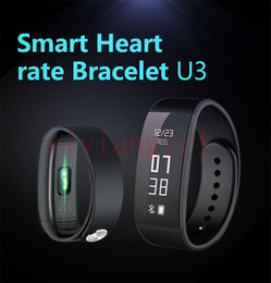 Wholesale Smart Heart rate Bracelet U3 long time standby Bluetooth Android abover and IOS abover iphone5 abover screen touch Smart Watch