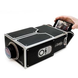 Wholesale DIY SmartPhone Projector Micro Mini Projectors Home Theater Cinema Cardboard Smartphone Portable Projector For iphone Free Ship