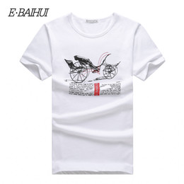 E-BAIHUI Brand new summer style Cotton men Clothing Male short sleeve t shirt Man T-shirts Casual T-Shirts mens tops tees T005