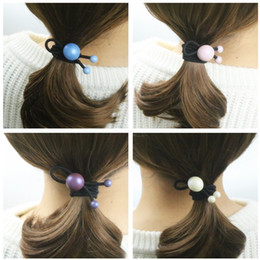 New 2017 Women Cute Hair Accessories Multicolor Acrylic Elastic Hair Rubber Bands Hair Jewelry For Children