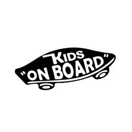 Internal Kids On Board Baby On Board Vans Vinyl Decal Off The Wall Baby Skateboard Car Styling Funny Car Sticker For Window