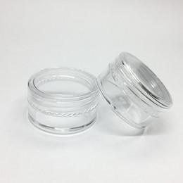 5Gram Cosmetic Plastic Jar Clear Base Cream Pot vide pot d'échantillons 5ML Mini bouteille en plastique Nail Art Glitter Powder Container Case à partir de ongles glitter pots fournisseurs