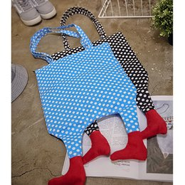Wholesale 2017 new female bag Korean art personality small package canvas feet hit color stripes shoulder bag Gui honey bag