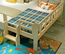 Wholesale Children s bed with solid wood guardrail single bed boys and girls Princess bed child bed pine crib bed