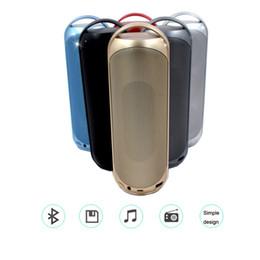 Boîte de haut-parleur de radio à vendre-Haut-parleurs sans fil Bluetooth de luxe MLL-219 Mini haut-parleurs portatifs HIFI Mains libres Micro TF Card Haut-parleur de radio FM pour téléphones portables Retail Box
